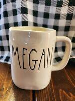 New Rae Dunn By Magenta Ceramic MEGAN Coffee Tea Mug Large Names HTF FREE SHIP