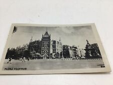 Bombay India Real Photo Postcard Picture RPPC Early 1900s Flora Fountain