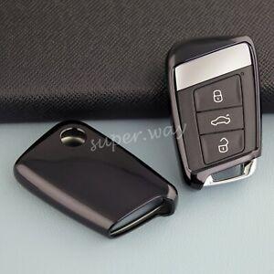 For VW Passat Jetta Arteon Black TPU Car Smart Remote Key Case Protector Cover
