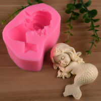 3D Mermaid Cake Mold Sugar Glue Mortar Mold Chocolate Candy Cake Decoration Y_ÁÍ