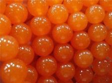 4mm Natural AAA Orange South America Topaz Jade Stones Loose Beads 15''