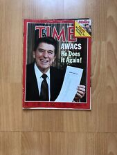 Time Magazine 9 Nov 1981 Ronald Reagan