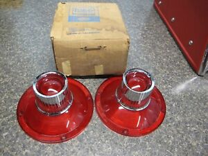 1964 Ford Galaxie 500 NOS Taillight Lens Pair Part # C4AZ-1345-C1 New FoMoCo
