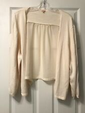 Reba Woman 3X Ivory Open Front Cardigan Sweater *NWT* $78 3/4 Sleeves