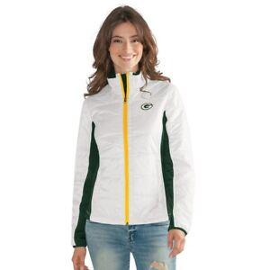 G-III 4her Green Bay Packers Women's Grand Slam Full Zip Jacket - White