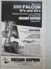 7/1976 PUB MESSIER HISPANO DASSAULT FALCON 10 20 LANDING GEAR BRAKE WHEEL AD