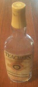 Teacher highland cream Scotch whiskey bottle