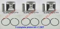 For PWC YAMAHA GP1200R XLT1200 PV Piston Full Kit (66V-11636-00 0.50+ Ring) X3