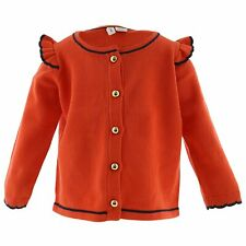 Janie And Jack Girl's Ruffle Shoulder Cardigan