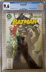 BATMAN 609 CGC 9.6 (2003) KEY 1ST APPEARANCE TOMMMY ELLIOT HUSH DC Movie not 9.8