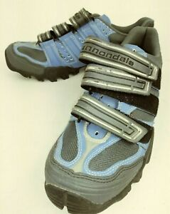 Cannondale Womens Shoes Cycling US 7 Blue Textile Gray Mesh Athletic 4580