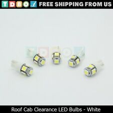 5x White Roof Cab Marker Running Lights LED Bulbs for Ford Super Duty Truck