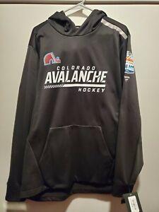 Fanatics Colorado Avalanche Lake Tahoe Authentic Rinkside Hoodie Men Size Large