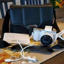 Samsung Smart Camera NX 300 Full HD 20 50 MM White Booklet Case Cord Strap