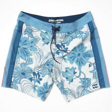 BILLABONG Airlite D'Bah Board Shorts Size 34 Surf Trunks Swim Blue Floral