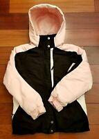 Cherokee Girls Winter Snow Jacket Coat Pink Black White Ski Medium