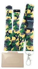 Spirius Army Camouflage Breakaway Lanyard neck strap + Free ID Badge Holder