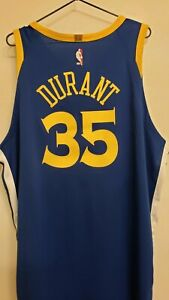 GS Warriors Nike Men's Authentic On Court Icon Jersey KD #35~Royal~XXL(56)~NEW!