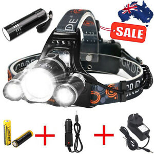 2021 RECHARGEABLE HEADLAMP 100000LM 3T6 XML LED HEADLIGHT HEAD TORCH FLASHLIGHT
