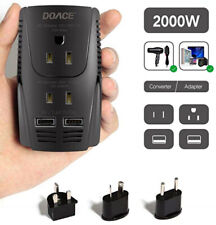 Voltage Converter for International Travel - 2000W DOACE (Hairdryer Capable)