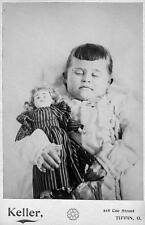 Old Photo.  Postmortem - young girl & doll