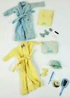 1961-1962 BARBIE & KEN DOLL OUTFIT SINGING IN THE SHOWER TERRY CLOTH ROBE SET