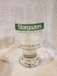 VINTAGE&RARE Minnesota North Stars Stargazers 1984 Dinner-Dance Glass, MINT!