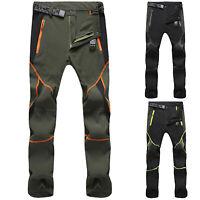 Men Waterproof Combat Cargo Pants Outdoor Casual Hiking Climbing Skiing Trousers