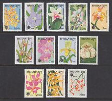 Bhutan Sc 870-893 MNH. 1989 Orchids, cplt set, 12 stamps & 12 souv sheets, VF