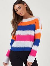 Wholesale Joblot Ladies Crotchet Knitted Stripe Jumper BNWOT