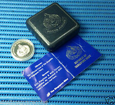 1992 Singapore 25th Anniversary of RSN 1 oz Silver Proof Medallion