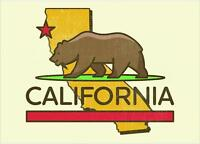 "California State Flag Vintage Decals 5"" vinyl sticker USA"