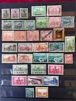Germany Saar Sarre 1920-1957 lot of 34  stamps MNH-MH-UNG and used
