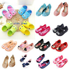 Toddler Baby Kids Cartoon Slip On Flats Jelly Shoes Infant Beach Casual Sandals