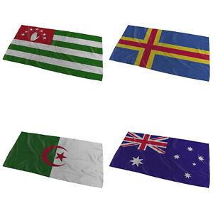 World Flags Wavy Desing Bath / Beach Towel ( Variation 1 ) - Large