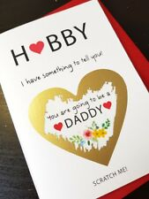 Pregnancy announcement card for mum dad bun in the oven Parents Husband Friend
