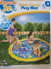 Banzai Jr. Sprinkle 'N Splash Play Mat Water Filled Spinkler Ring For Ages 18.