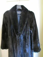 Beautiful Winter Ready Mark Forrester Black Female Mink Fur Coat Sz 12-14