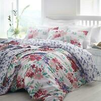 Pink Duvet Covers Floral 200 Thread Count Cotton White Quilt Cover Bedding Sets