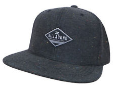 "Tags Billabong Men Boys ""oxford"" Flat Peak Rim Cap Hat One Size Chambray"