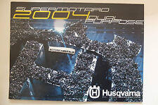 HUSQVARNA MOTARD DUAL PURPOSE  2004 DEPLIANT CATALOGO CATALOGUE  BROCHURE