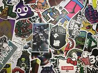 100 Skateboard Stickers Vinyl Laptop Luggage Decal Dope Sticker Lot