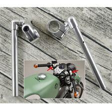 2x Silber Motorrad Aluminium Lenker Rohr 37mm Schelle Halterung für Cafe Racer