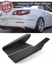 "18"" Gen 3 Rear Bumper Lip Winglet Apron Splitter Diffuser Canard For VW Porsch"