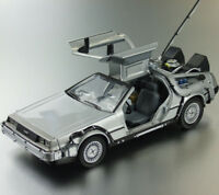BACK TO THE FUTURE 1 1/24 DeLorean Time Machine DIECAST CAR NEW
