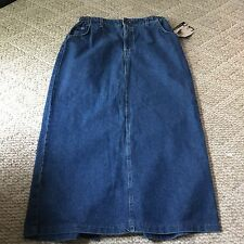 Lee Jeans Denim Skirt 16 NWT Vintage 1990s Mom Jeans Modest New