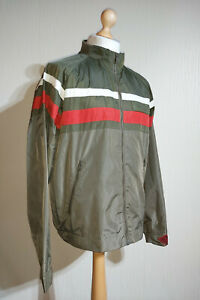 Levi's Red Tab Retro Cafe Racer Biker Style Bomber Jacket Mens Size L Green