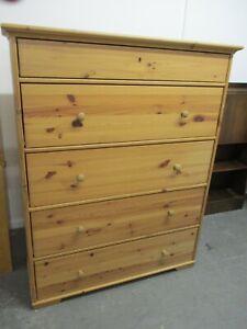Pine Chest of Drawers, IKEA Hurdal, 5 Drawers, 110cmW, 138cmH