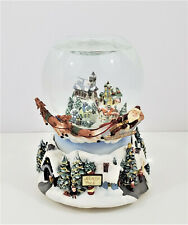 PartyLite Olde World Village Tealight Musical Snow Globe Candle Holder