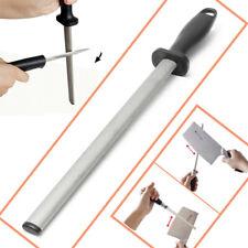 12'' Grit Diamond Kitchen Knife Sharpening Steel Rod Sharpener Stone Tool